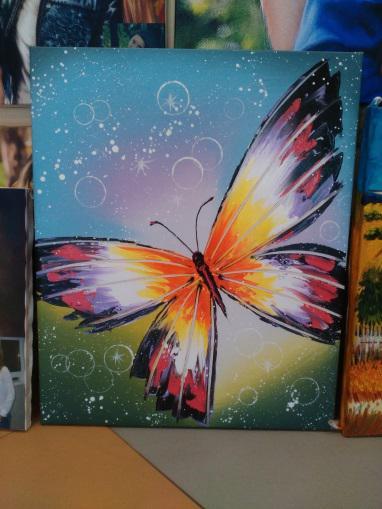Картина «Бабочка» галерейная натяжка - П123