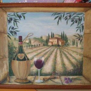 Картина «Итальянский натюрморт» в раме 42,5 х53 см - П227