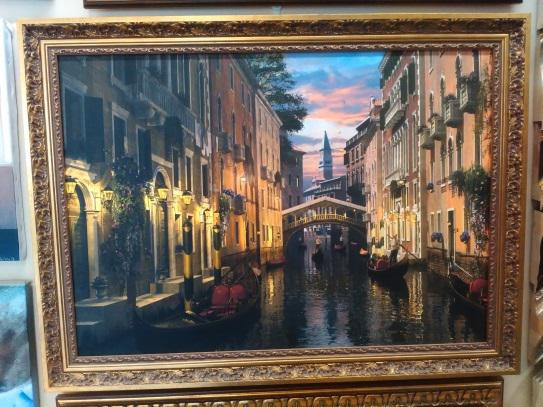 Картина «Венеция» в раме 50х70 см - П229