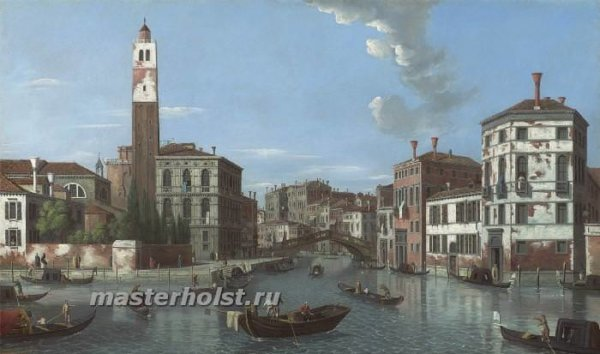 061 William James - View of the Grand Canal, Venice, with san Geremia and thr entrance to the Cannaregio