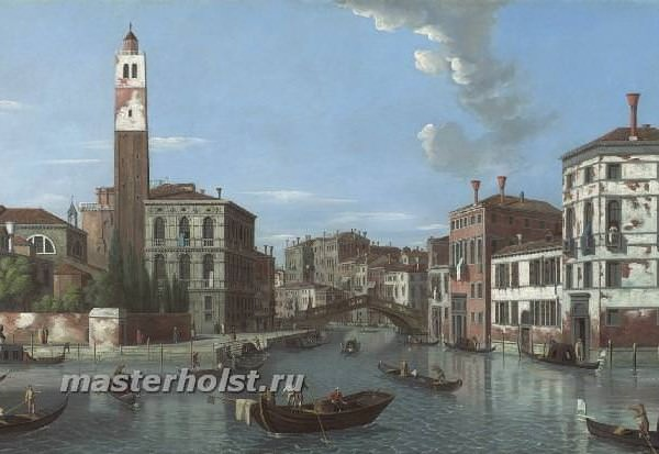 061 William James — View of the Grand Canal, Venice, with san Geremia and thr entrance to the Cannaregio