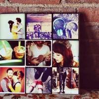 Instagram фото на холсте