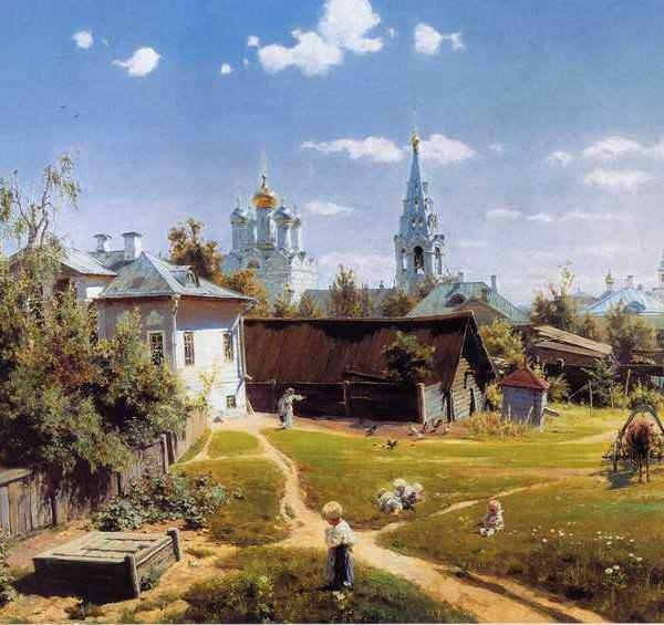 005 Поленов, В.Д. Московский дворик