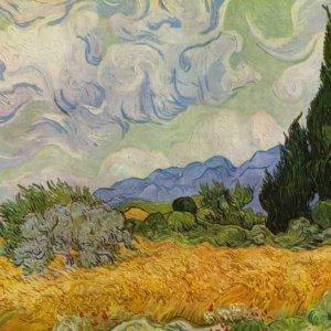 014 Ван Гог,Пшеничное поле с кипарисами