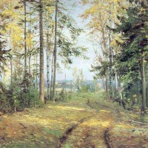 015 Ге, Николай Николаевич. Дорога в лесу