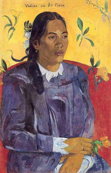 032 Гоген, Поль.Женщина с цветком