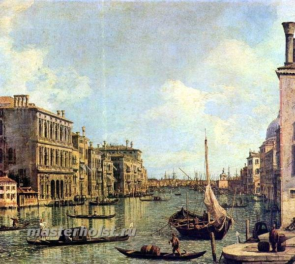 034 Каналетто (II), Антонио.Вид с Большого канала на гавань Сан Марко