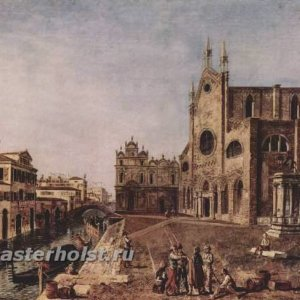 037 Марьески, Микеле.Площадь Сан Джованни э Паоло в Венеции