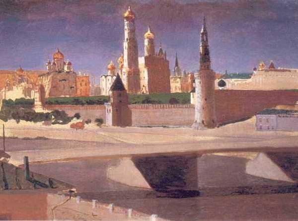 045 Куинджи, А И.Москва. Вид на Кремль со стороны Замоскворечья