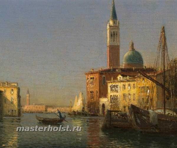 045 Antoine Bouvard Sr - A Venetian Canal Scene