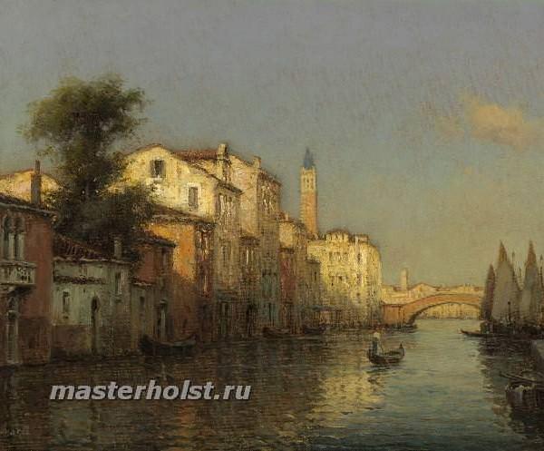 046 Antoine Bouvard Sr - Canal Scene, Venice