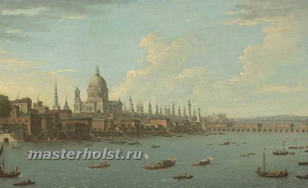 049 Antonio Joli — A view of London & the Thames with St. Pauls