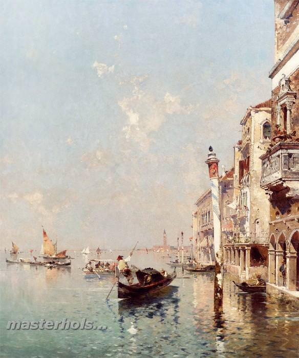 052 Franz Richard Unterberger - The Grand Canal Venice