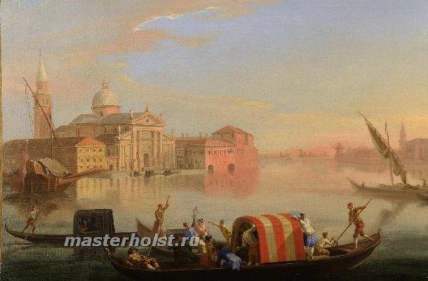 055 JOHAN ANTON RICHTER Stockholm 1665-1745 Venice – The Island of San Giorgio Maggiore Venice