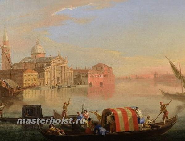 055 JOHAN ANTON RICHTER Stockholm 1665-1745 Venice - The Island of San Giorgio Maggiore Venice