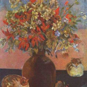 054 Гоген, Поль.Цветы и кошки