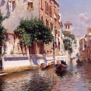 058 Rubens Santoro - St. Apostoli Canal, Venice