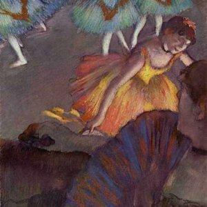 058 Дега, Эдгар-Жермен-Илер.Балетный спектакль - вид на сцену из ложи
