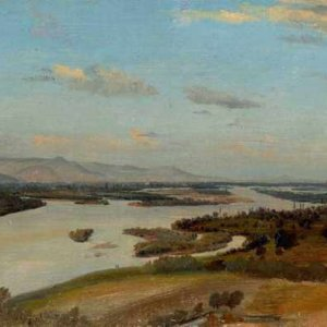 068м ALINE BOULIAN - A view of the River Rhine near Breisach