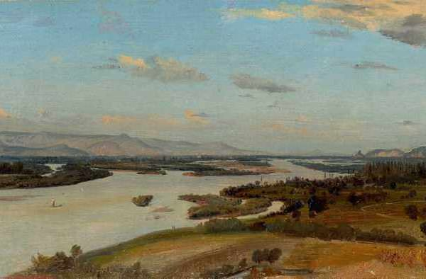 068м ALINE BOULIAN - A view of the River Rhine near Breisach