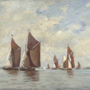 073м Edward Seago - Barge race on the Orwell