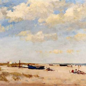 074м Edward Seago - On the Beach - Great Yarmouth
