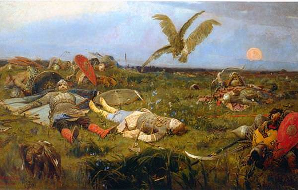 077 Васнецов В, После побоища Игоря Святославовича с половцами