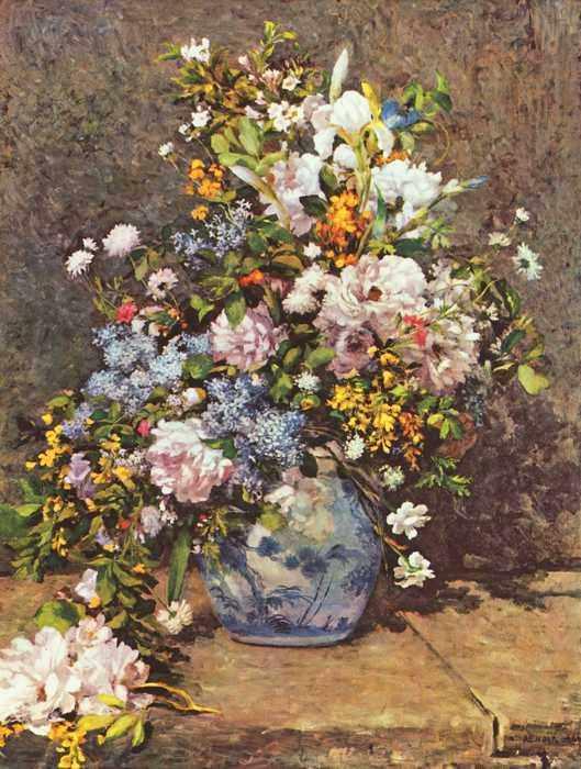 080 Ренуар, Пьер-Огюст.Натюрморт с большой цветочной вазой