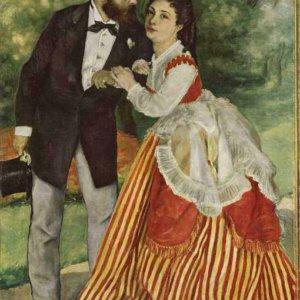 084 Ренуар, Пьер-Огюст.Портрет супругов Сислей