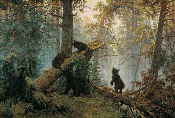 098 Шишкин, И.И.утро в сосновом лесу