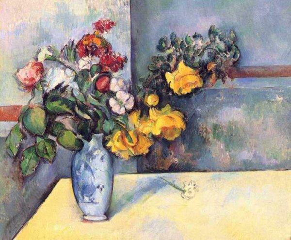 088 Сезанн, Поль.Натюрморт с цветами в вазе
