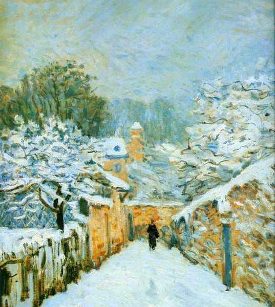 090 Сислей А. Снег в Лувенсене