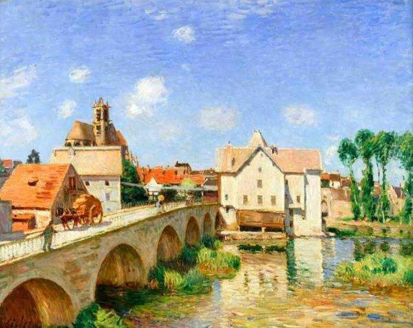 091 Сислей, Альфред. Мост в Лувенсьене