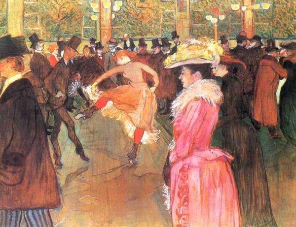 093 Тулуз-Лотрек, Анри де.Танцы в Мулен-Руж