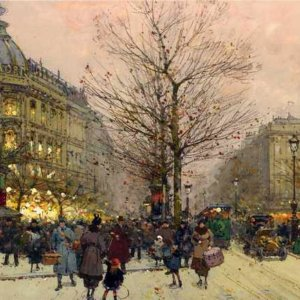 103 Eugene Galien-Laloue - Les Grands Boulevards, Paris