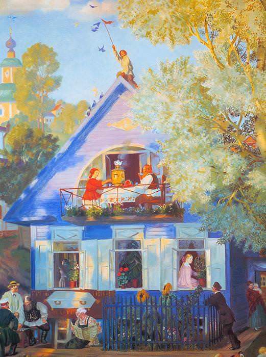 116 Кустодиев Б, Голубой домик