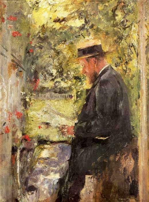 118 Лайбль, Вильгельм Мария Хубертус.Портрет ветеринара доктора Райндля в беседке