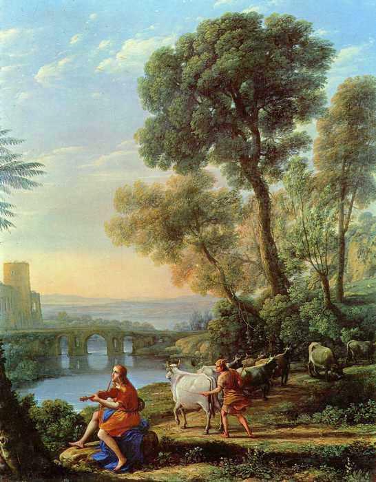 123 Лоррен, Клод.Пейзаж с Аполлоном и Меркурием