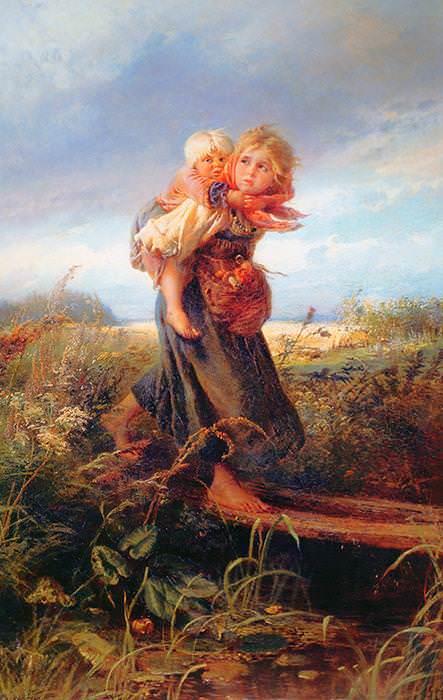 125 Маковский К, Дети бегущие от грозы