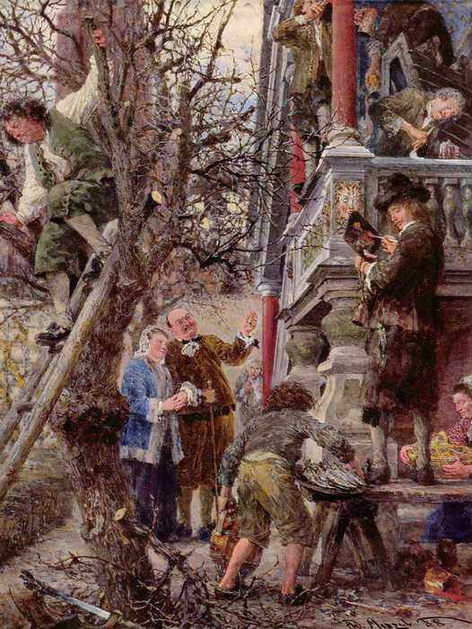 129 Менцель, Адольф Фридрих Эрдман фон.(Счастливые хозяева)