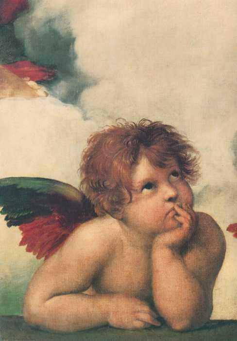 152 Рафаэль, Санти. Ангел, фрагмент 1