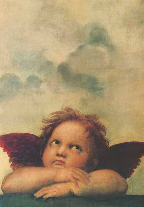 153 Рафаэль, Санти. Ангел, фрагмент 2