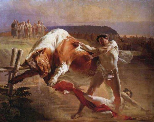 163 Сорокин, Е.С. Ян Усмовец, удерживающий быка