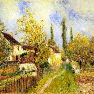 167 Сислей, Альфред. Пейзаж в Лувенсьене