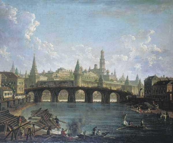 169 Вид на Московский Кремль со стороны Каменного моста
