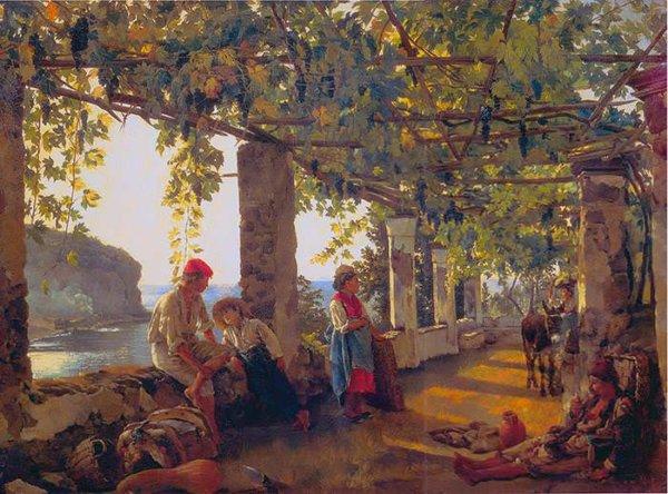 180 Щедрин С. Веранда, обвитая виноградом