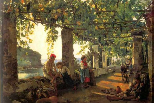 181 Щедрин, С Ф.Веранда, обвитая виноградом