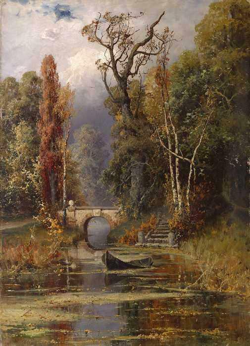 177 Клевер, Ю.Ю. Осенний пруд