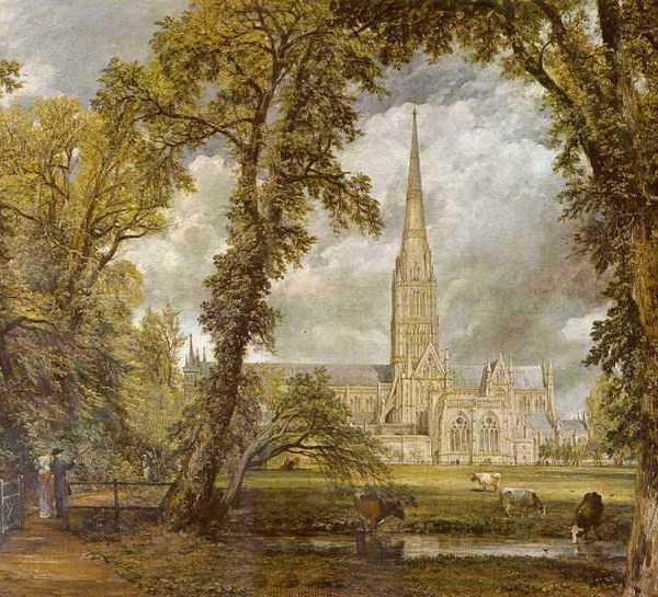 184 Констебл, Джон.Вид на собор в Солсбери из епископского сада