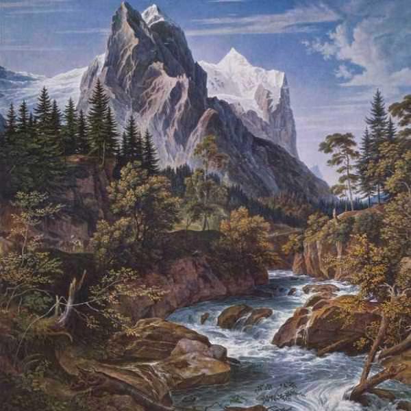 187 Кох, Йозеф Антон.Пик Веттерхорн